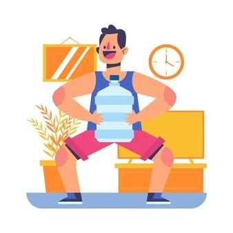 به کمک لوازم در منزل ورزش کنید
